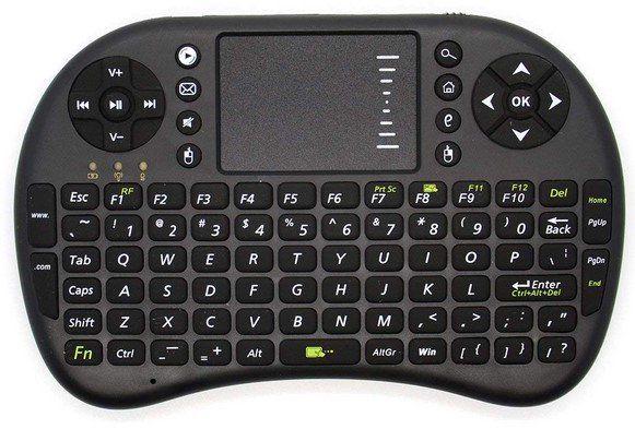 UKB 500 RF   2.4G Tastatur mit Mauspad für 5,53€ (statt 8€)
