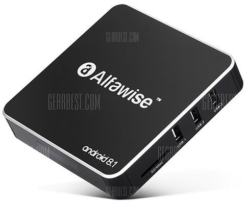 Alfawise A8 4K TV BOX   mit 2GB RAM, 16GB ROM & Android 8.1 für 20,43€