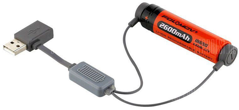Folomov A1   USB Charger für 18650 / 21700 / 26650  Li ion Batterien für 5,18€
