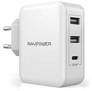RavPower RP PC060   USB Ladegerät (1 USB C & 2 USB Anschlüsse) für 11,19€ (statt 16€)