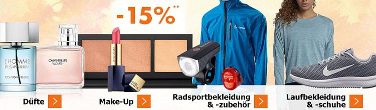 Karstadt Sonntags Kracher mit 20% auf Damenmode oder 15% auf Düfte, Make Up, Radsportkleidung und Laufbekleidung