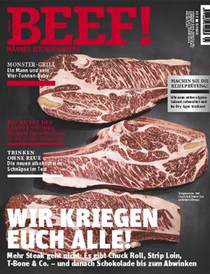 BEEF! Koch Magazin für Männer mit 6 Ausgaben für 72€ + 40€ Gutschein