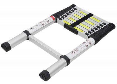Hongyans Aluminiumteleskopleiter mit 2,6 m Länge für 39,89€ bzw. 3,8 m für 55,29€
