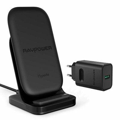 RAVPower Wireless Charger  (DE RP PC069) mit Hyperair Ladefunktion für 22,49€ (statt 30€)