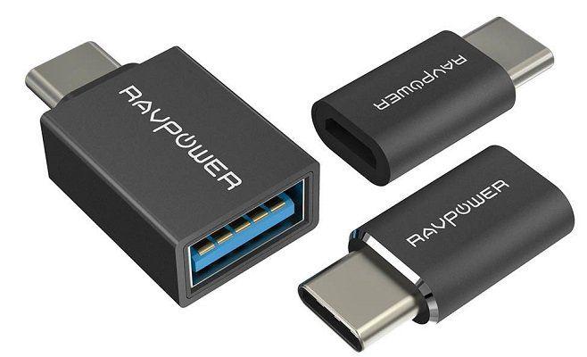 RAVPower USB C Adapter Set (RP PC007(B)) mit 3 Adaptern für 4,99€