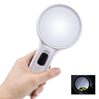 Handlupe mit 10facher Vergrößerung & 3 LEDs für 9,79€   Prime