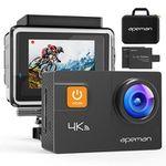 Apeman A80 (2018) – 4K Actioncam mit 20 MP & 2 Akkus inkl. Transporttasche für 68,79€ (statt 86€)