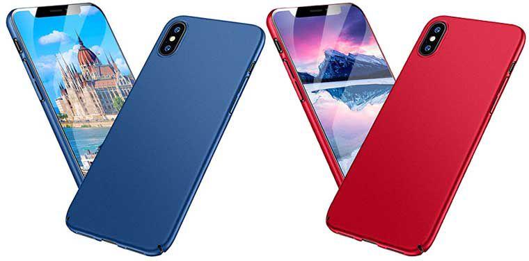 Meidom   schmale Schutzhülle für iPhone X in Blau oder Rot für je 5,45€ (statt 9€)   Prime