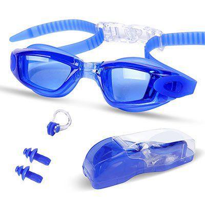 Schwimmbrille mit Nasenklammer & Ohrstöpsel für 3€ (statt 10€)   Prime