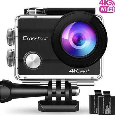 Crosstour CT8000 – 4K ActionCam mit 170° Weitwinkel & viel Zubehör für 36,99€ (statt 60€)
