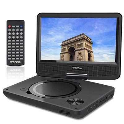 WONNIE 9.5″ tragbarer DVD Player mit schwenkbaren Bildschirm für 19,99€ (statt 40€)