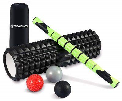 TOMSHOO 6 teiliges Faszienset (Faszienrollen, Igelball, Massageroller, Massagebälle) für 22,79€ (statt 38€)