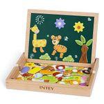 INTEY Magnetisches Holzpuzzle mit Tafel und Stiften für 11,99€ (statt 18€)