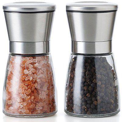 TGY Salz  & Pfeffermühle im Set mit 5 Stufen Mahlwerk für 9,99€ (statt 14€)   Prime