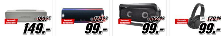 Media Markt TV  u. Audio Knaller: z.B. LG PK7 Bluetooth Lautsprecher für 99€ (statt 149€)