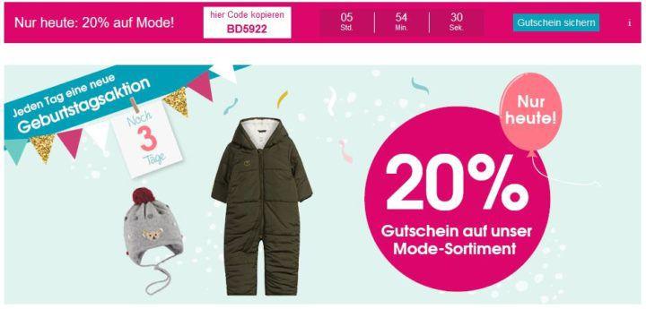 1ff7ad9369f54d Babymarkt  20% Rabatt auf Kinder-   Baby-Mode auch im Sale bis Mitternacht  + VSK-frei ab 40€