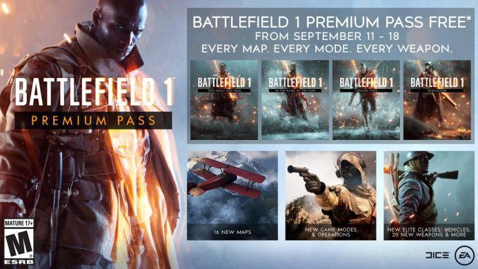 Battlefield 1 Premium Pass (PS4, Xbox One) gratis