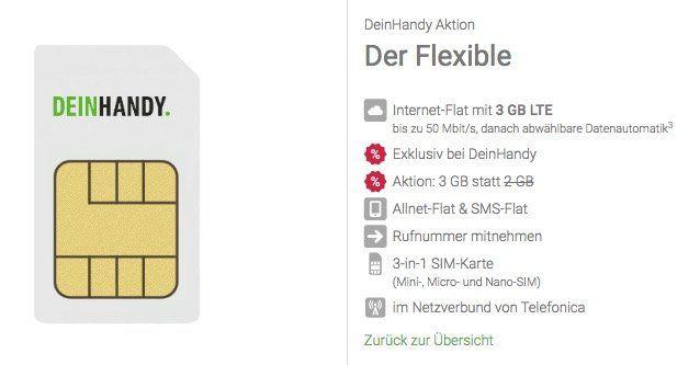o2 Allnet Flat mit 3GB LTE für 8,99€ mtl. + monatlich kündbar + nur 4,44€ Anschlussgebühr