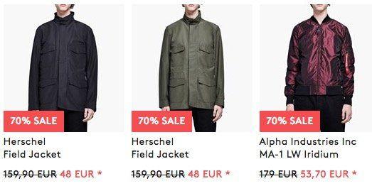 Jacken Sale mit  70% bei Caliroots   z.B. Levis Mechanic 2 Jacket für 36€ (statt 72€)