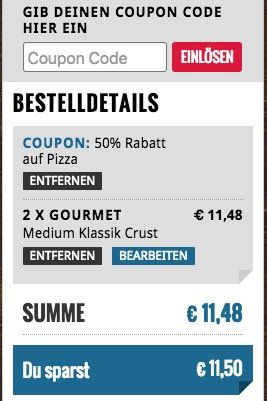 🍕 Dominos: 50% auf Pizza Lieferungen von ausgewählten Filialen