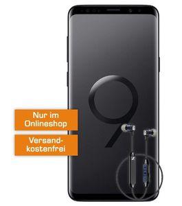 TOP! Samsung Galaxy S9+ inkl. Sennheiser CX6 für 1€ + real Allnet im D2 Netz mit 8 GB für 31,99€ mtl.