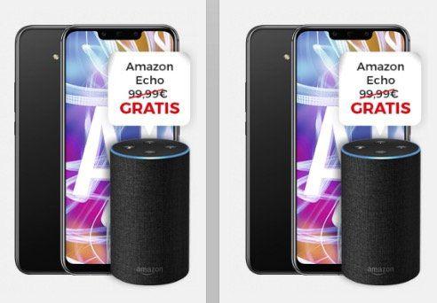 Knaller? Doppelpack (!) Huawei Mate 20 Lite inkl. Doppelpack Amazon Echo für 49,95€ + Vodafone Smart L+ mit 5GB LTE für 36,99€ mtl.