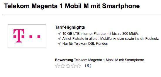 Für Telekom DSL Kunden: Telekom Magenta 1 Mobil M mit 10GB LTE für 45€ mtl. + Top Smartphones ab 1€ (iPhone 8, Galaxy S9, P20 Pro uvm.)