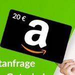 Abgelaufen! Gratis 20€ Amazon-Gutschein für Kreditanfrage – kein Abschluss erforderlich!
