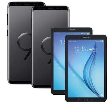 Knaller! 2 x Samsung Galaxy S9 + 2 x Samsung Galaxy Tab E für 149€ + Vodafone Allnet mit 11GB LTE für 51,99€ mtl.