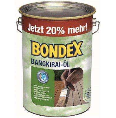 Bondex Bangkirai Holzschutz Ol 4 8 Liter Fur 34 95 Statt 43