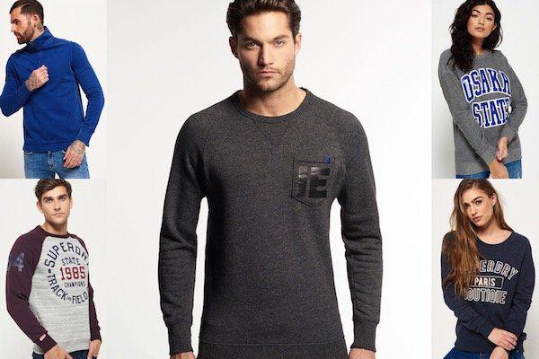 Superdry Sweatshirts für Damen und Herren   div. Modelle für je 30,95€