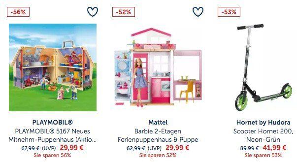 myToys: Spielzeug zum halben Preis   z.B. Hudora Scooter CLVR 250 für 72,94€ (statt 91€)