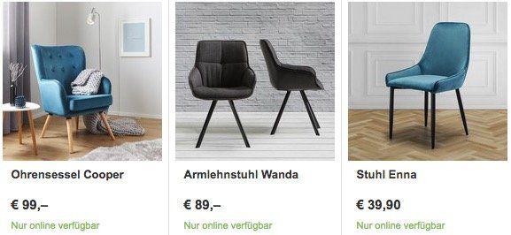 25% Rabatt auf ausgewählte Stühle bei Mömax + ggf. keine VSK