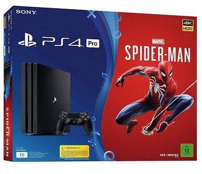 PlayStation 4 Pro 1TB inkl. Spider Man für 342,70€ (statt 395€)