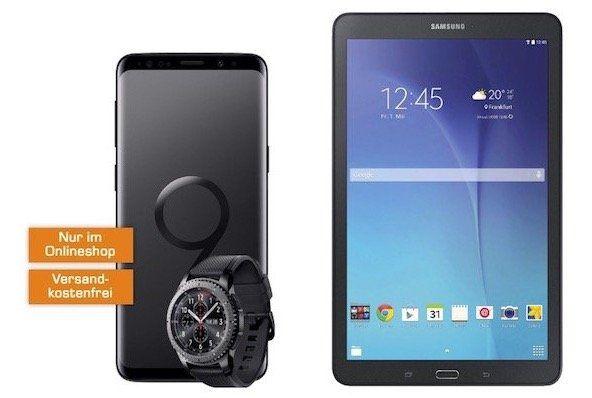 Samsung Galaxy S9+ inkl. Gear S3 frontier 79€ + Vodafone Flat 2GB für 27€ mtl. + gratis Galaxy Tab E