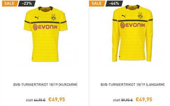 Alle BVB Trikots für nur 49,95€ + keine Versandkosten im BVB Shop