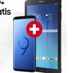Samsung Galaxy S9+ inkl. Galaxy Tab E Tablet für 9,95€ + Vodafone Flat mit 10GB Highspeed für 34,99€ mtl. (junge Leute 12GB)