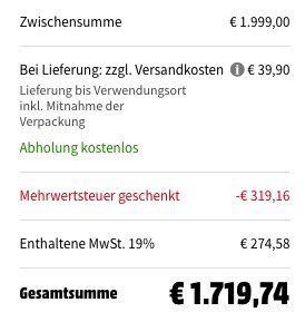 LG GSI 961 NEAZ Sidy by Side mit instaView  für 1.719,74€ (statt 1.899€)