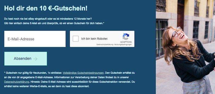 eBay: 10€ Gutschein ohne MBW für Neukunden oder wenn ihr länger als 12 Monate inaktiv wart