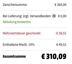 Bosch Rotak 43 LI (Akku Rasenmäher inkl. 4 Ah Akku) für 310€ (statt 414€)