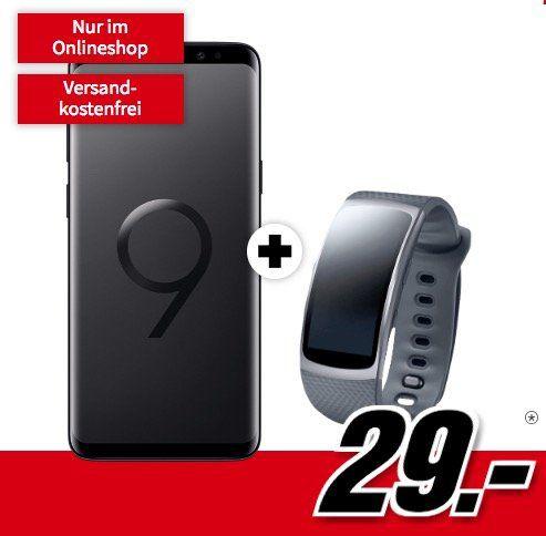 Samsung Galaxy S9 + Samsung Gear Fit 2 für 29€ + Vodafone Allnet Flat mit 1GB für 19,99€ mtl.
