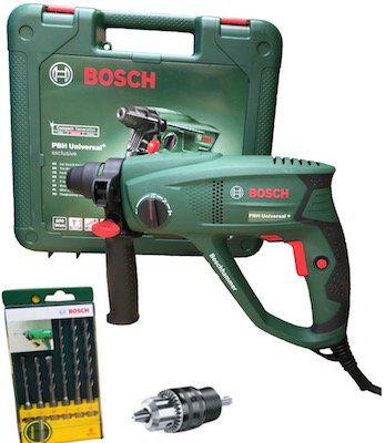 Bosch PBH Universal+ 2500 SRE Bohrhammer inkl. 6 tlg. SDS Plus Bohrer Set für 109,99€ (statt 131€)