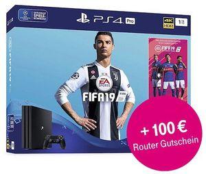 Telekom MagentaZuhause M 50 Mbit/s für 33,20€ mtl. + Playstation 4 Pro inkl. Fifa 19 für einmalig 49€ + 100€ Gutschrift bei Buchung des Routers für 4,95€ mtl.