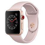 Apple Watch Series 3 42mm GPS + Cellular mit Sportarmband in Gold/Sandrosa für 373,99€ (statt 429€)