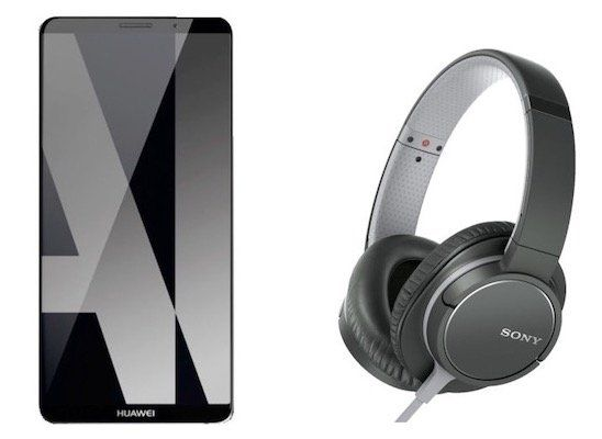 Huawei Mate 10 Pro 128GB Smartphone + Sony MDR ZX770APB Over ear Kopfhörer für 402,99€ (statt 465€)
