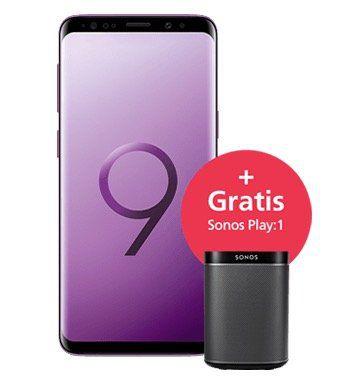 Samsung Galaxy S9 + Sonos Play:1 für 49€ + o2 Free L mit 30GB LTE für 39,99€ mtl.