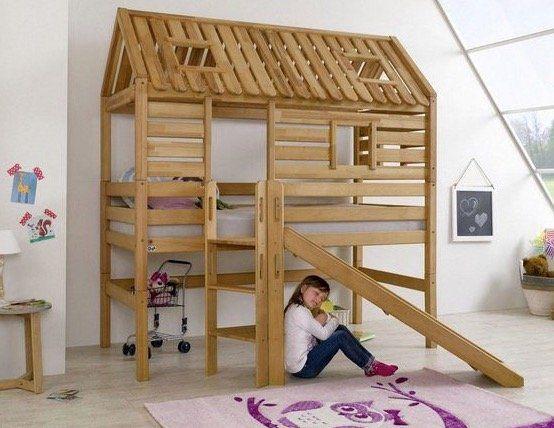 Relita Kinderbett Eliyas mit Tom's Holzhütte inkl. Dachaufbau für 829,94€ (statt 1.000€)
