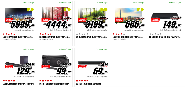 Mega Marken Sparen bei MediaMarkt: Angebote von LG, Panasonic, Bose und Beats