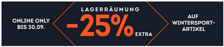 Lagerräumung bei SportScheck + 25% Code auf Wintersportartikel der Vorsaison