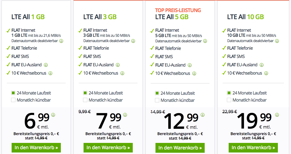 Geht noch! winSIM LTE FLEX Tarife reduziert ab 6,99€ mtl. + keine Anschlussgebühr   jederzeit kündbar!